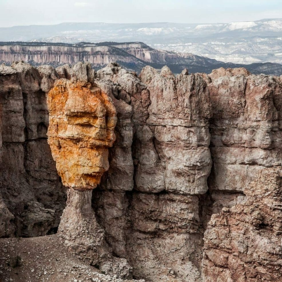 Colorful hoodoo face at Bryce Canyon