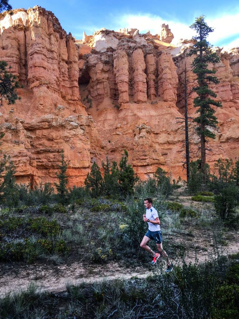 Trail running at Bryce Canyon