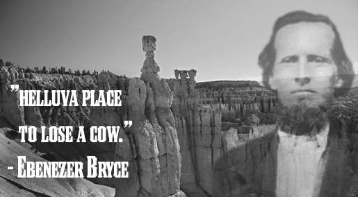 How did Bryce Canyon get it's name? Ebenezer Bryce